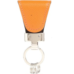 [Vintage Revival Productions] key clip calf leather キーケース 日本製 オレンジ