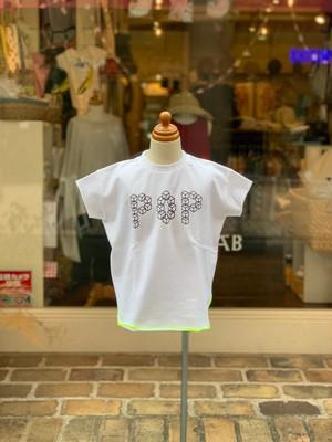 KIDS:frankygrow【フランキーグロウ】CUBE POP TEE(ホワイト:S/90cm,M/110cm,L/130cm)ポップT