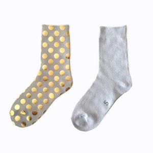 METAL SOX (1.5DOT) SILVER GRAY X GOLD