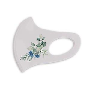 デザインマスク1枚   Flower(Blue)