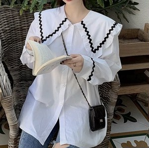 dolly collar tops 2color