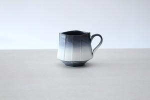 """陶芸作家【藤岡光一】coffee cup  コーヒーマグカップ 角形  """"淡雪"""""""