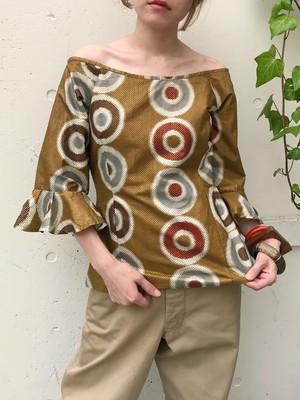 Vintage african batik gold tops (ヴィンテージ アフリカン バティック ゴールド トップス