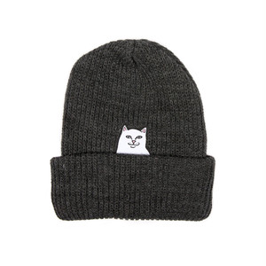 RIPNDIP - Lord Nermal Ribbed Beanie (Charcoal)