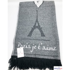 Eiffel Tower Shawl-BK-