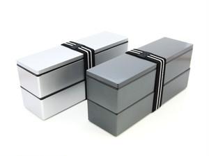 メンズスリム二段弁当箱 メタリック