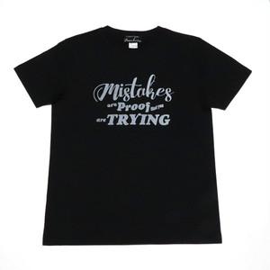 インディーズデザインTシャツ「失敗してしまうのは頑張ってる証拠だよ」 レディスフォントTシャツ