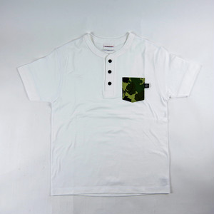 INTERFACE LEAF CAMO HENLY NECK POCKET TEE