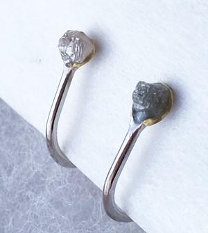 ダイアモンド原石◇イヤリング