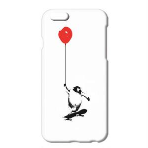 送料無料 [iPhone ケース] ペンギンと風船とスケートボード