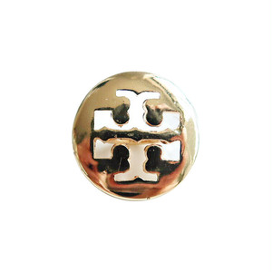 【VINTAGE TORY BURCH BUTTON】ゴールド ロゴ ボタン 14mm