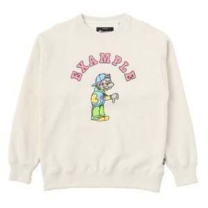 EXAMPLE BAD BOY CREWNECK / IVORY