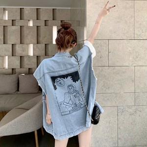 【アウター】ファッションカジュアルデニムストリート系ベスト42471598