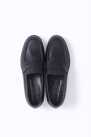 FOOTSTOCK ORIGINALS / LOAFER BLACK - STEEREMBOSSED