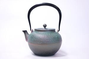 南部鉄器 鉄瓶 宝徳肌 ターコイズ 0.8L