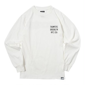 LOGO L/S TEE (WHITE) [TH-SP-200]