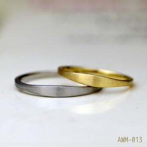 シンプル平打ちの結婚指輪【プラチナ(Pt950)】ペアリング【AWM-013】