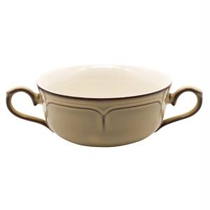Koyo ラフィネ 両手 スープカップ 約17×12cm シナモンベージュ 15922054