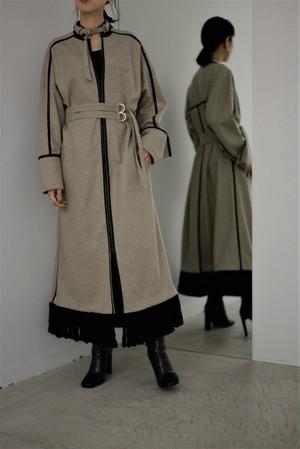EBONY / Wool melton Dress Coat (grage)