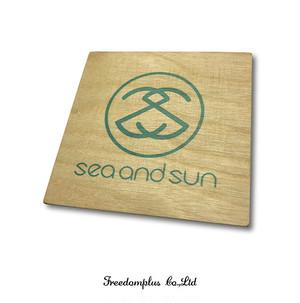 SEA AND SUN  コースター  WOOD018