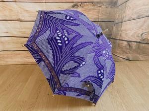 紫色の絞り(日傘)