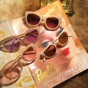 beige flame sunglasses