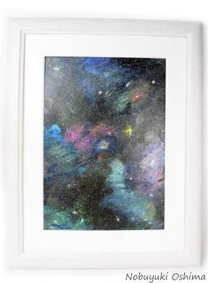 オリジナル絵画「Space Paint」原画額装品