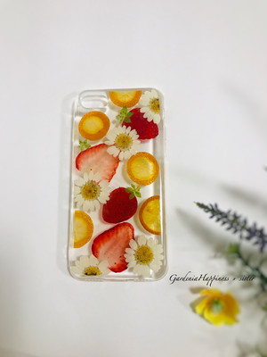 【送料無料】イチゴ&オレンジ盛り沢山!! スマホケース iPhoneケース