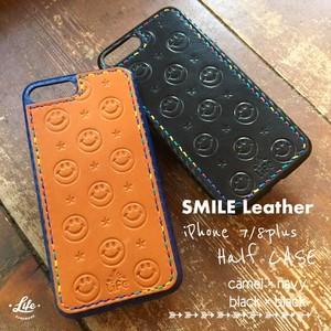 SMILE Leather iPhone Half CASE (7/8plus用)