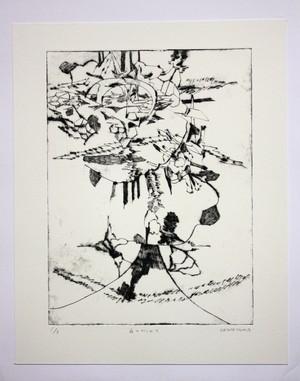 山とひらめき Kazuya TAOKA 版画作品(ドライポイント)