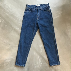 LIVING CONCEPT  5POCKET TAPERED DENIM PANTS BIO WASH [B.BLUE]