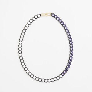 talkative Banquet/BanquetBijou necklace Chalk white×Tanzanite middle