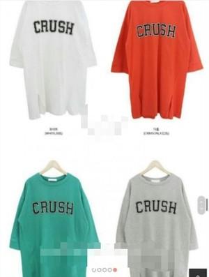 韓国レディース服☆CRUSH ロングTシャツ