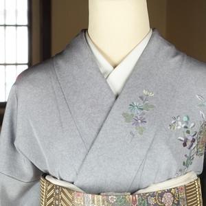 汕頭刺繍(161cm・66.5cm) 未使用 正絹訪問着【1656】