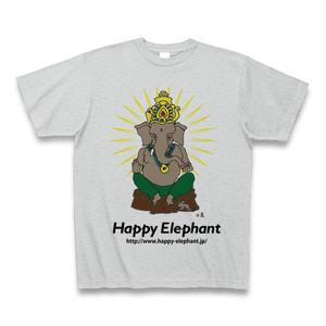 Happyelephant ガネーシャTシャツ・グレー