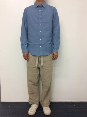 e JEANS シャツ blue gray (e-SH801)