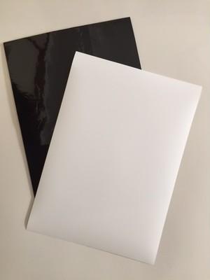 ペタッとつく吸着シート(厚手タイプ・片面粘着)+ 印刷用フィルム A4 2枚セット