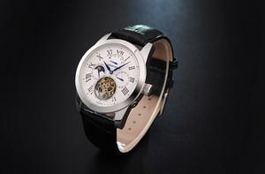 【JOHNNY ROGER Roi blue】フライングトゥ-ルビヨン メンズ パワーリザーブ 手巻き腕時計