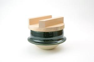 土楽・織部羽釜5寸(2合炊き)