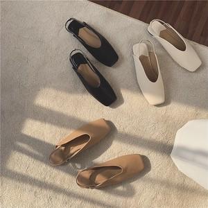 3color : Square Toe Back Strap Shoes   92032   バックストラップ スクエアトゥ