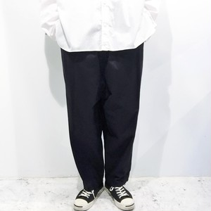 FIRMUM 【フィルマム】 COMBED COTTON YARN DOUBLE STIN CLOTH tapered pants