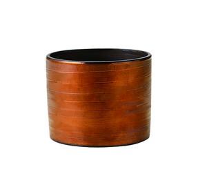 胴巻炭華ロック型カップ内黒外銅〜土の温もりを感じる器〜