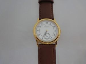 SEIKOセイコー AVENUEアベニュー SS金色紳士用腕時計 クォーツ