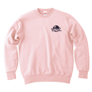 ERICH / ONEPOINT EIGHT-BALL LOGO CREWNECK SWEAT LIGHT-PINK