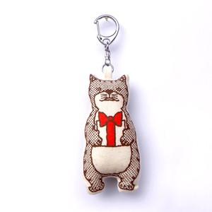 【ぬいぐるみキーホルダー】ちっさいネコおっさん プレゼント