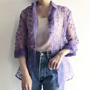 vintage see-through design shirt