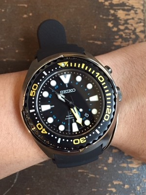 "SEIKO   ""PROSPEX KINETIC GMT DIVER'S WATCH"""