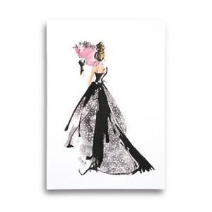 A4アートプリント《額なし》扇とドレス