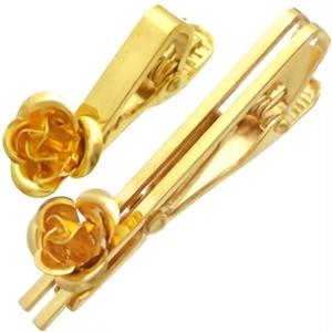 ゴールドコート ブラス ローズネクタイピン ナロー バラ薔薇*BK-1022AB