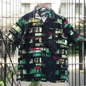 "LEFLAH / レフラー | "" Home Pattern Aloha Shirt "" - Green"